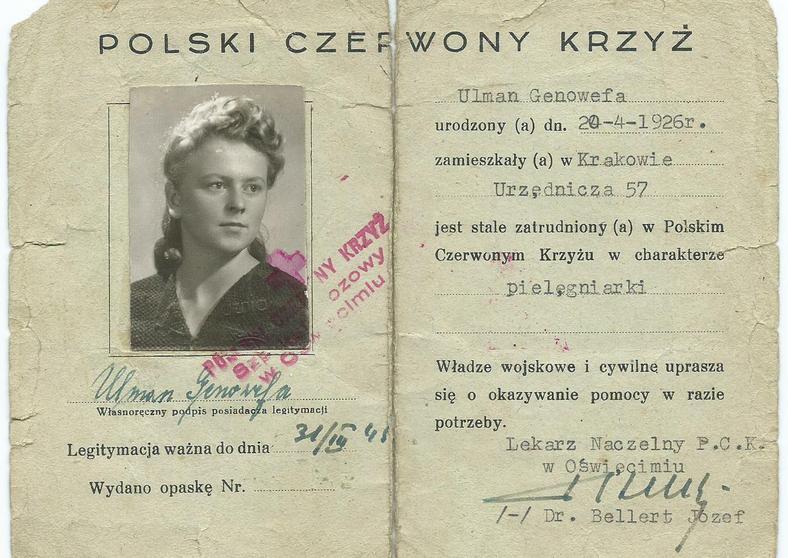 Legitymacja PCK Genowefy Ulman (Tokarewicz)