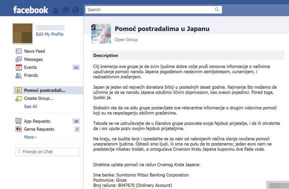 Na Fejsbuku je osnovana grupa