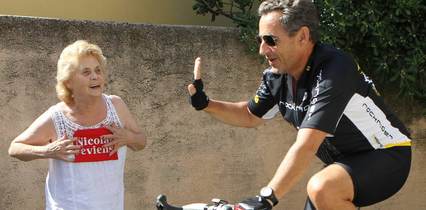 Były prezydent Francji na rowerze! Tak walczy o władzę