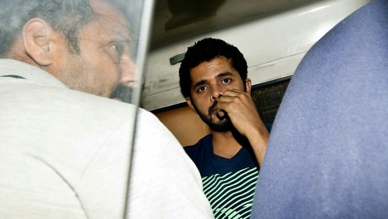 Shanthakumaran Sreesanth Rajasthan Royals bowler was banned for life after a 2013 spot-fixing and betting scandal