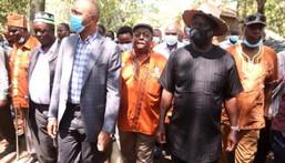 ODM leader Raila Odinga with a section of Gikuyu elders