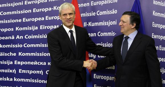 Podrška: Boris Tadić i Žoze Manuel Barozo