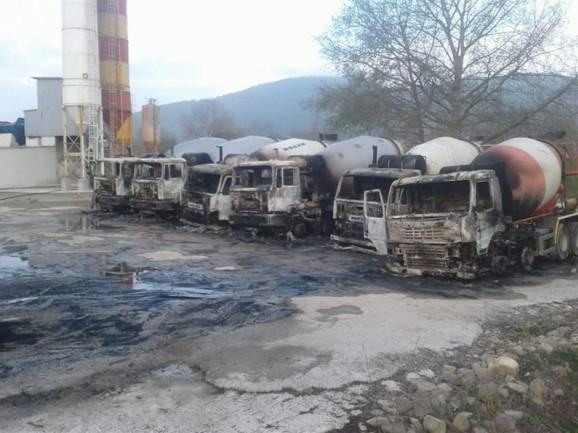 Kamioni izgoreli u požaru