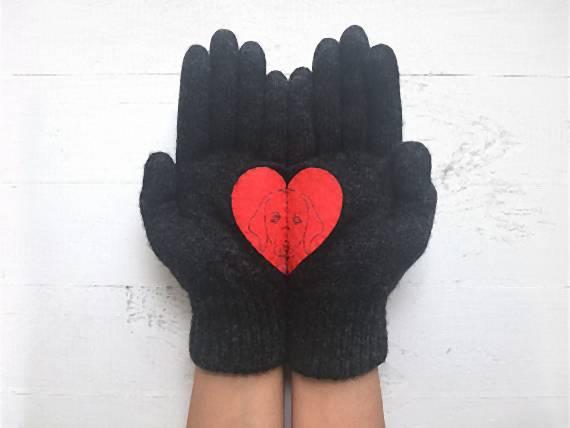 Hravé rukavice s obrázkom Talking Gloves f54966894b5