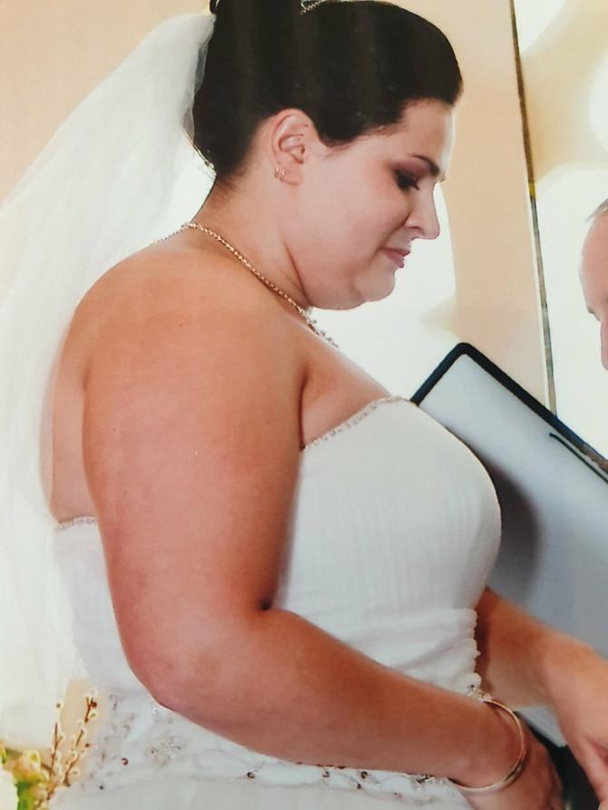 Belinda na dan venčanja