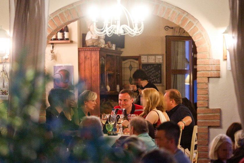 Dudowie na włoskiej kolacji