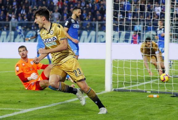 Pulseto je uspeo samo da ublaži poraz Udinezea protiv Empolija