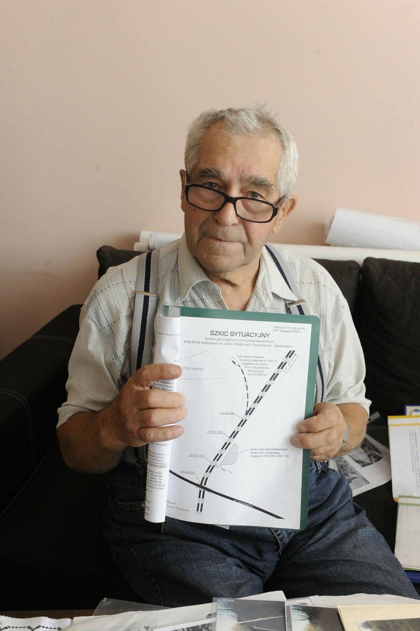 Tadeusz Słowikowski (85 l.), poszukiwacz złotego pociągu z Wałbrzycha