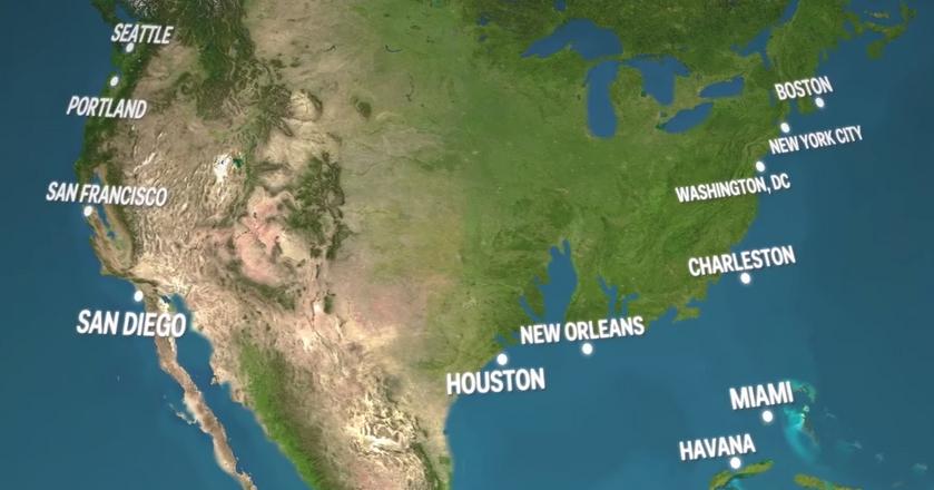 Jak wyglądałaby Ziemia, gdyby stopniał cały lód