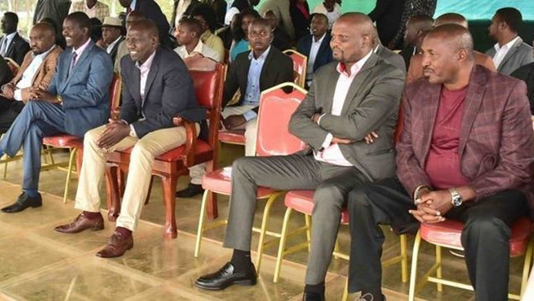 DP William Ruto in uncontrollable laughter after Moses Kuria ...