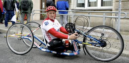 Sukces niepełnosprawnego kolarza!