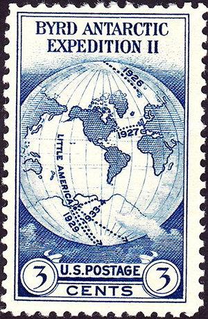 Znaczek US Post upamiętniający wyprawy Byrda, 1933 r.