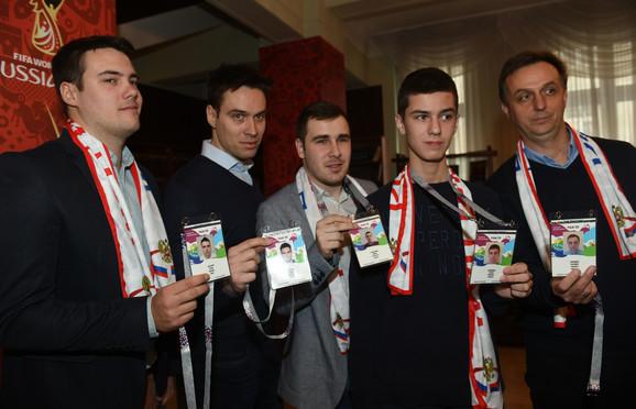 Naši navijači na svečanom prijemu FAN ID kartica pred početak Mundijala