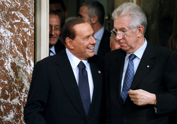 Mario Monti i Silvio Berlusconi