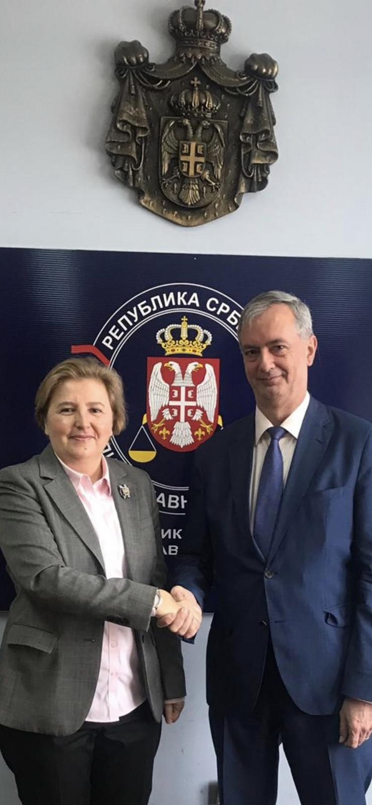 Republički javni tužilac Zagorka Dolovac i ambasador Kraljevine Belgije Koen Adam Promo