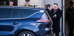 Wpadka podczas wizyty Macrona. Ależ się uparł