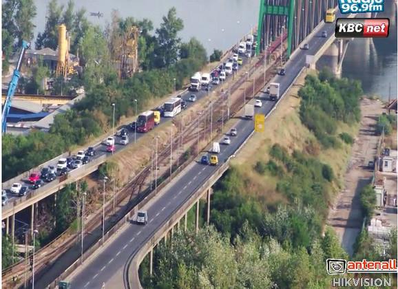 Pojačan saobraćaj na  Pančevcu u smeru ka gradu