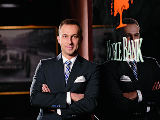 Adrian Wardęga, wealth manager, Noble Bank, Poznań