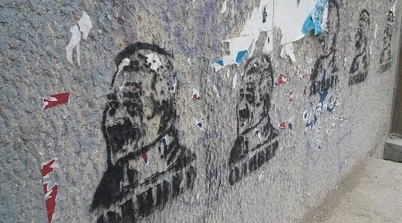 Grafiti u Kosovskoj Mitrovici