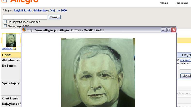 Allegrowicz oferuje portret prezydenta