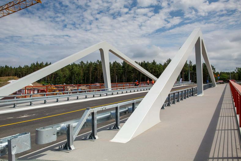 Most Południowy nad kanałem żeglugowym na Mierzei Wiślanej