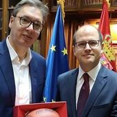 """""""FIBA, HVALA ŠTO VERUJEŠ U SRBIJU!"""" Predsednik države Aleksandar Vučić ugostio Zaglkisa i Danilovića /FOTO/"""
