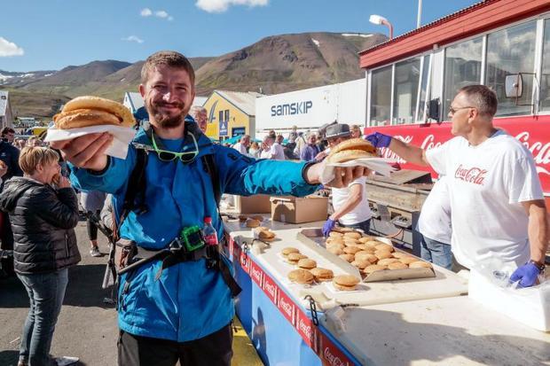 Świeże ryby, pogoda jak na Islandię wymarzona… Czego chcieć więcej?