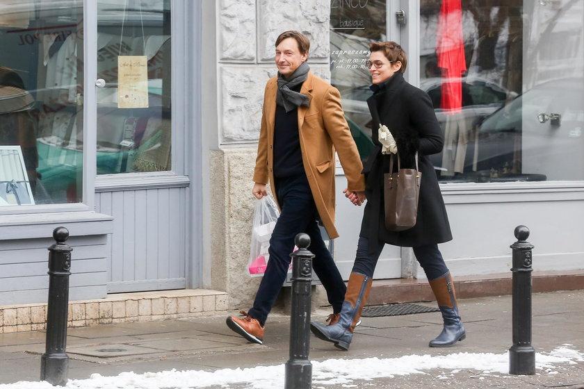 Ilona Felicjańska z partnerem