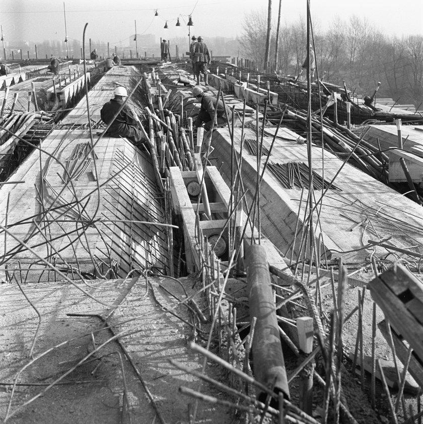 1972 rok. Budowa Trasy Łazienkowskiej