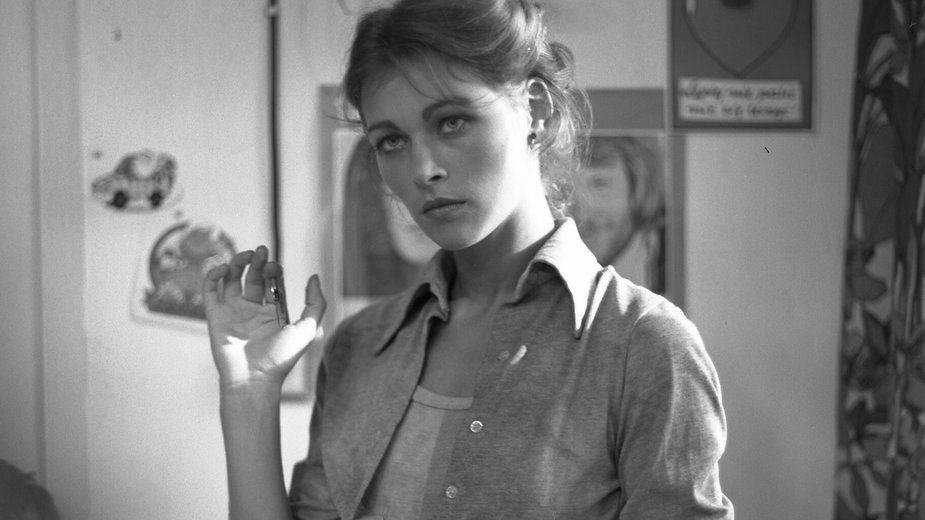 """Joanna Pacuła w serialu """"Kto za?"""" (1980 r.)"""