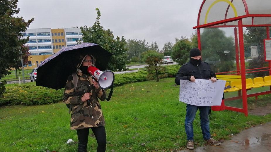 Protest w obronie oddziału dziecięcego w Radomsku