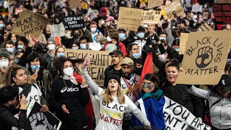 Protest Black Lives Matter w Sydney