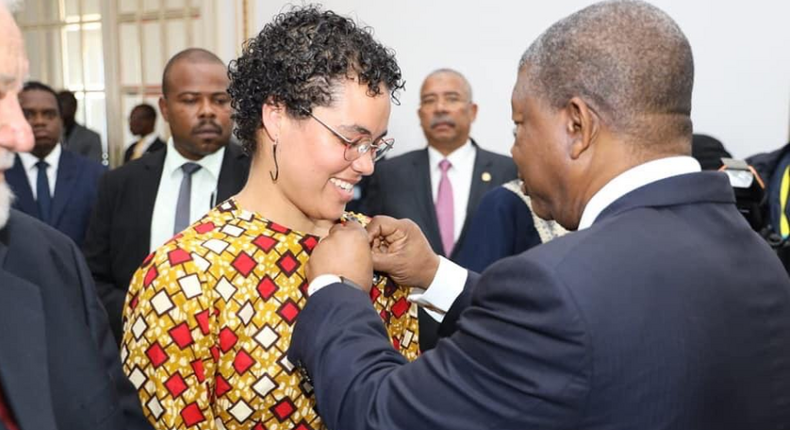 """Angola's President Joao Lourenco awards two  """"enemies of the state"""" with  medals of honor. (Twitter)"""