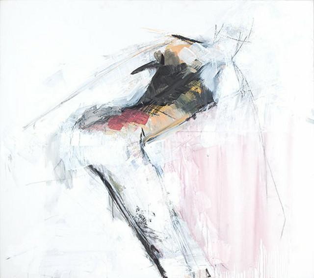 """""""Čudesni krug"""", 2012, kombinovana tehnika na platnu"""