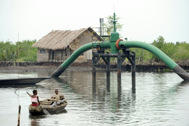 An oil and gas facility in the Niger delta region