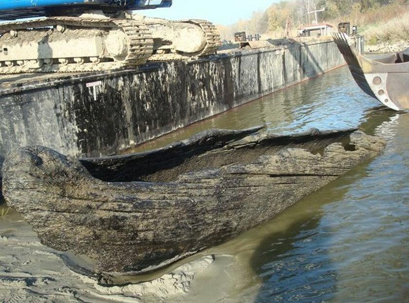 Średniowieczna łódka