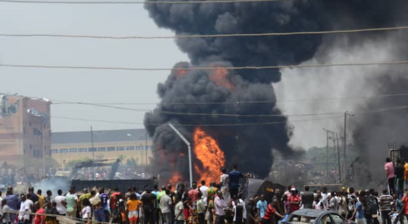 Lawan commiserates with victims of Lagos explosion