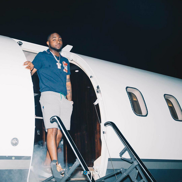 Davido has his own private with a number of exotic cars to his garage, making him one of the wealthiest celebrities in Nigeria.