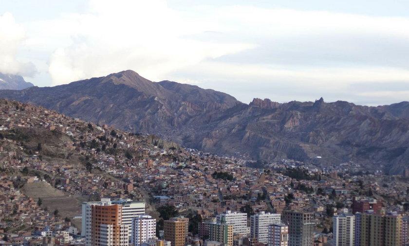 Górzysty krajobraz Boliwii