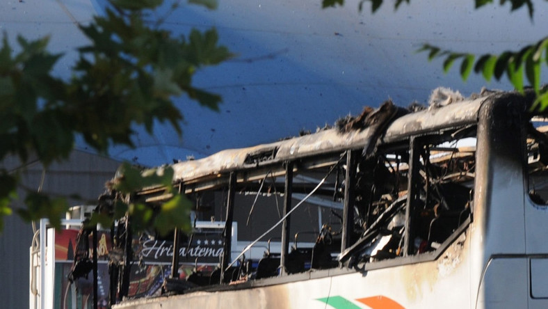 Autobus z izraelskimi turystami po zamachu