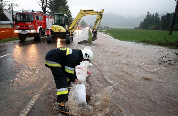 Sytuacja powodziowa na Podhalu. Fot. PAP/Grzegorz Momot