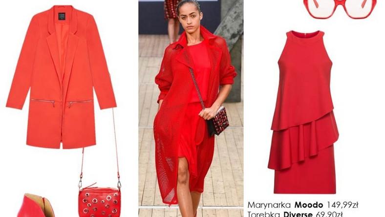 Wybierając intensywne barwy, takie jak czerwień postawmy na eleganckie połączenie. Sukienka i obcasy? A może marynarka?