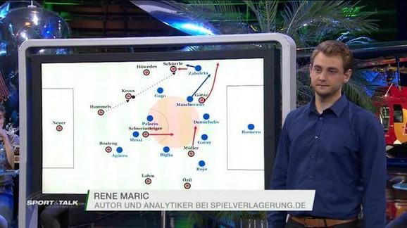 Rene Marić kao 21-godišnjak tokom jednog TV gostovanja