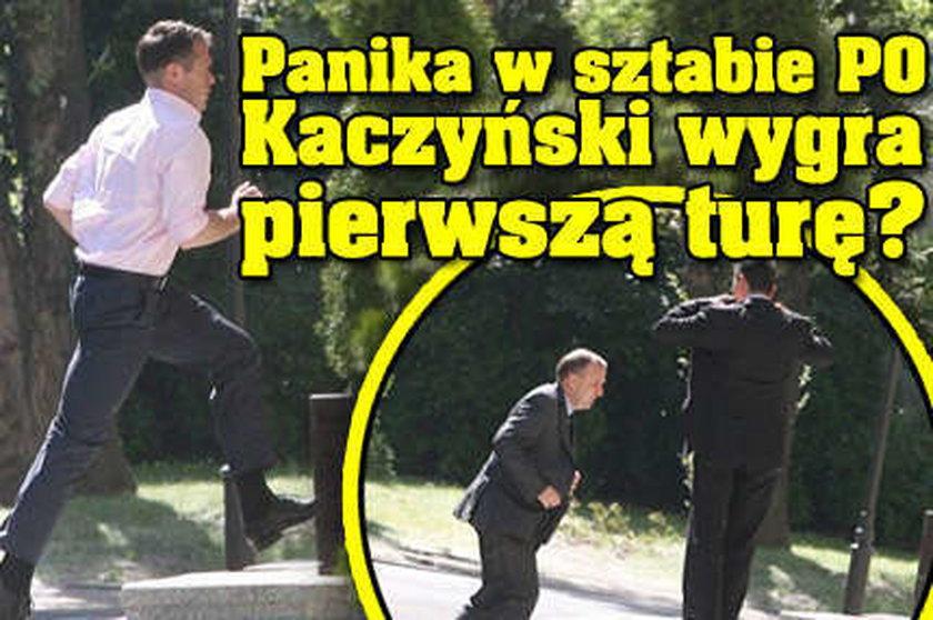 Wielka panika w sztabie PO. Kaczyński wygra pierwszą turę?