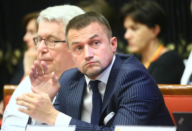 Lider Warszawskiej Wspólnoty Samorządowej, radny m.st. Warszawy Piotr Guział