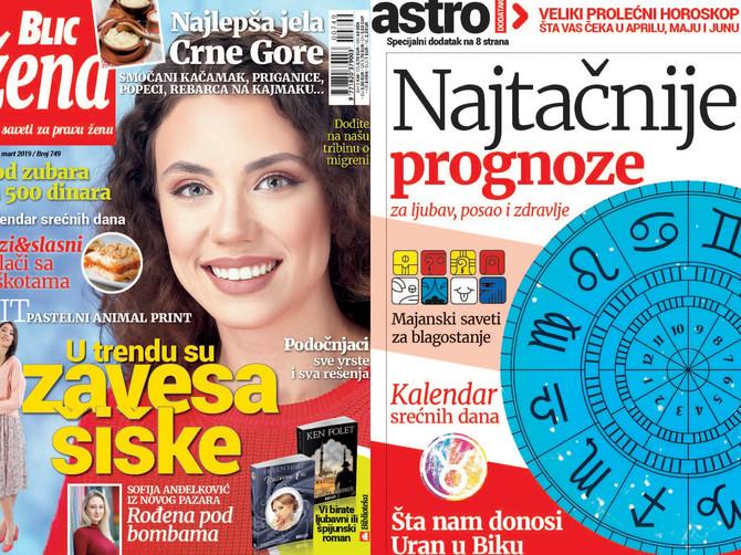 """U novoj """"Blic ženi"""" veliki PROLEĆNI HOROSKOP: Poklanjamo i kalendar srećnih dana"""