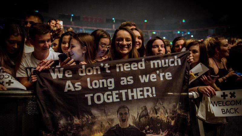 Martin Garrix - koncert w Tauron Arena Kraków - zdjęcia publiczności