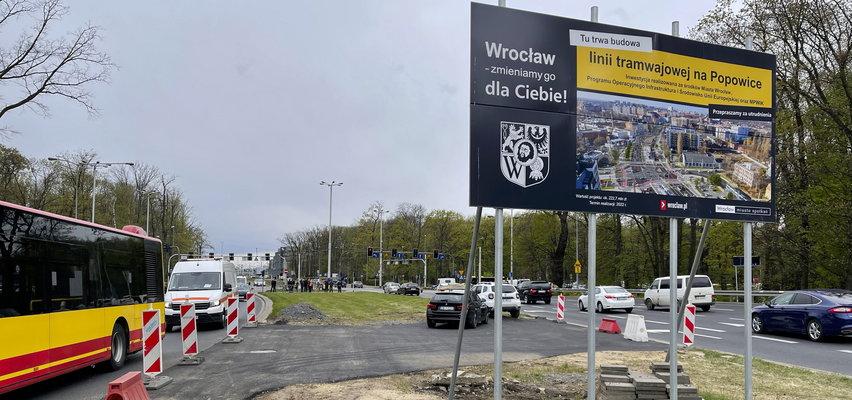 Pół roku utrudnień dla mieszkańców wrocławskich Popowic i Kozanowa
