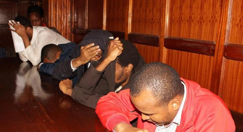 Suspects of the Dusit terror attack at a Milimani court