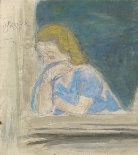 Nedeljko Gvozdenović, Žena na prozoru, 1942